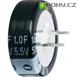 Kondenzátor elektrolytický, 1 F, 5,5 V, 30 %, 10 x 21,5 mm