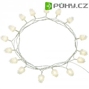 Světelný řetěz vnitřní Polarlite, 16 LED, 6 m, teplá bílá, 4,5 m
