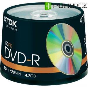 TDK DVD-R 4,7GB 16X 50 ks cake box