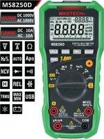 Multimetr MS8250D MASTECH, automat, True RMS, USB