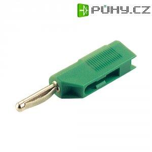 Banánkový konektor zástrčka, rovná Ø pin: 4 mm zelená SKS Hirschmann VSB 20 1 ks