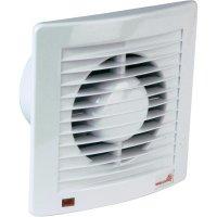 Vestavný ventilátor s časovačem Wallair Hygrostat, 20110602, 230 V, 95 m3/h, 16 cm