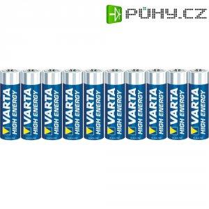 Alkalická baterie Varta High Energy, typ AA, sada 10 ks