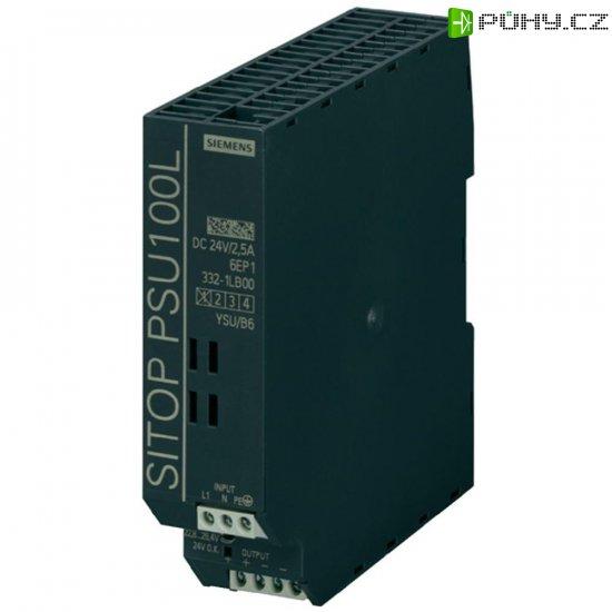 Zdroj na DIN lištu Siemens SITOP PSU100L, 24 V/DC, 2,5 A - Kliknutím na obrázek zavřete