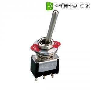 Páčkový přepínač, 2x zap/zap, 250 V/AC, 3 A