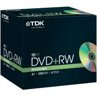 TDK DVD+RW 4,7GB 4X 10 ks JEWELCASE
