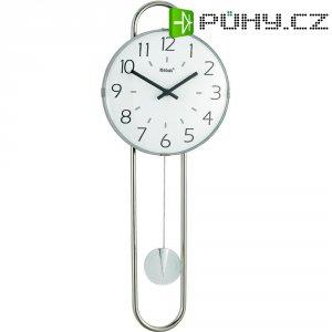 Quarz kyvadlové hodiny - pendlovky, 22,5 x 58 cm, chrom, bílá