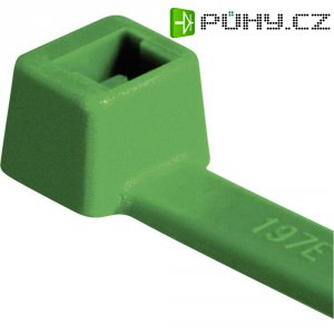 Stahovací pásky HellermannTyton T80L-N66-GN-C1 116-05415, 390 mm, PA66, zelená, 100 ks