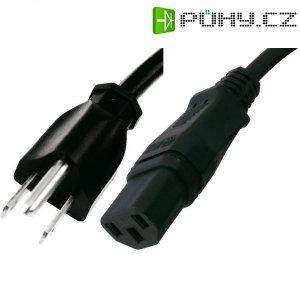 Síťový kabel HAWA 1008265, zástrčka (Japonsko)  IEC zásuvka, 2 m, černá