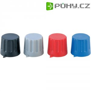 Otočný knoflík s ukazatelem Strapubox POMELLO 20/6 MM ROSSO, 20/6 mm, 6 mm, červená