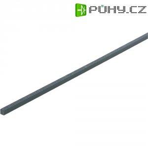PVC 4-hranný profil 500 x 5 x 5 mm