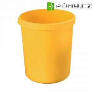 Koš na papír, žlutý, 30 litrů