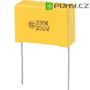Foliový kondenzátor MKS, 3,3 µF, 250 V, 5 %, 32 x 13 x 22 mm