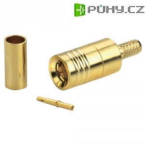 SMB Reverse konektor BKL Electronic 419201, 50 Ω, 500 MΩ, zástrčka rovná
