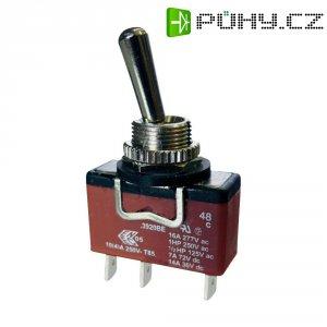Páčkový spínač Arcolectric C3900BEAAA, 250 V/AC, 16 A, 1x vyp/zap, IP67, 1 ks