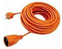 Prodlužovací přívod 20m-spojka,3x1mm2,6A,orange