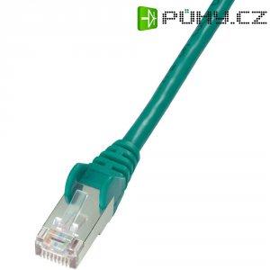 Patch kabel CAT 5e F/UTP RJ 45, vidlice ⇔ vidlice, 10 m, zelený