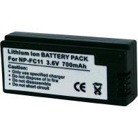 Akumulátor Conrad energy pro videokameru SONY NP-FC10 a NP-FC11, 3,6 V, 700 mAh
