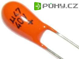 470n/40V TE135, tantalový kondenzátor