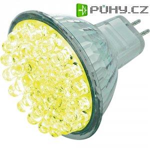 LED žárovka Basetech, GU5.3, 1,7 W, 12 V, žlutá