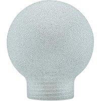Stínítko pro žárovku, skleněné , kulatý tvar, bílé