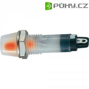 LED signálka BD-0703, O 8,5 mm ORANŽOVÁ, 12 V