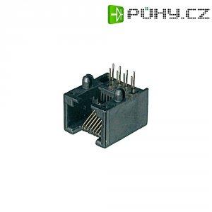 Konektor do DPS ASSMANN WSW A-20041/LP, 6P6C, zásuvka vestavná, černá