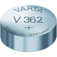 Knoflíková baterie 362, Varta SR58, na bázi oxidu stříbra, 00362101401