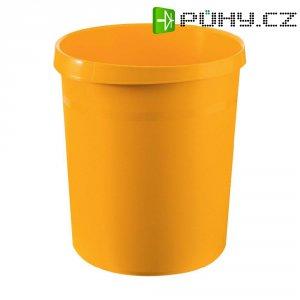 Koš na papír HAN Grip, 350 mm, Ø 237 mm, 18 l, žlutá