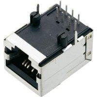 Konektor do DPS BEL Stewart Conn. SS71800-007F, zásuvka vestavná horizontální, Snap-In