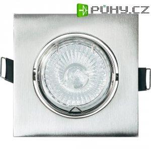 Vestavné svítidlo čtvercové Basetech CT-3112, GU10, 35 W, chrom/kov