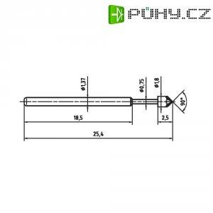 Zkušební hrot PTR 1015-K-0.7N-AU-1.8