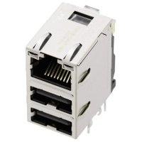 Konektor do DPS BEL Stewart Connectors 08C2-1X1T-03 (1443-4000-06), zásuvka vestavná