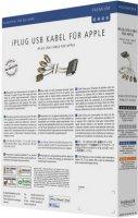 Redukce pro Apple ⇒ 3x cinch/USB 2.0 A, 2 m, bílá, Inakustik