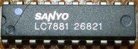 LC7881 - D/A převodník pro audio, DIP20