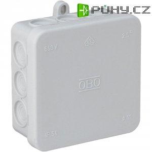 Rozbočovací krabice na omítku do vlhkých prostor IP54, 85x 85, světle šedá, 347114008