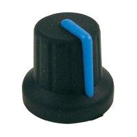 Knoflík Cliff FC72603S, pro sérii K86R, 6 mm, s drážkováním, černá/modrá