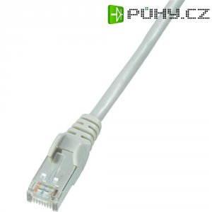 Patch kabel CAT 5e F/UTP RJ 45, vidlice ⇔ vidlice, 0,5 m, šedý
