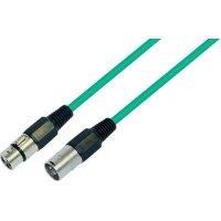 XLR kabel, XLR(F)/XLR(M), 5 m, zelená