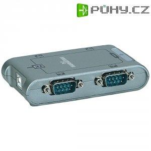 Adaptér Manhattan USB 2.0, sériový, stříbrný, 0,45 m