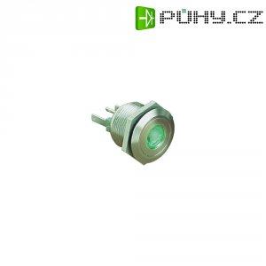 Tlačítko ESKA Bulgin, MPI001/28/GN, 24 V/DC, 0,05 A, vyp./(zap.), antivandal, IP66, nerez