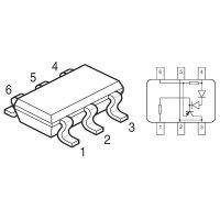Driver Power LED Infineon Technologies BCR402U, SC 74
