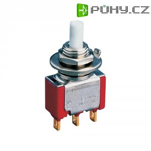 Laboratorní tlačítko Eledis 5A11-F3STSE-B0, 1x zap/(zap), 230 V/AC, 0,5 A, červená/bílá