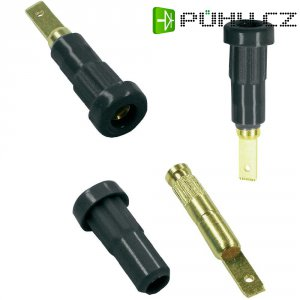 Laboratorní konektor Ø 2 mm MultiContact 23.1011-20, zásuvka vestavná vert., zelenožlutá