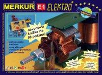 Stavebnice MERKUR E1 ELEKTRO - elektřina, magnetizmus