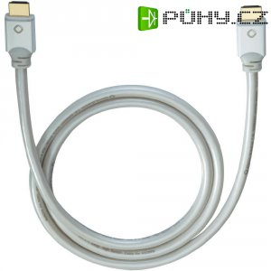 Oehlbach High Speed HDMI kabel s Ethernetem, White Magic, 1,2 m, bílý