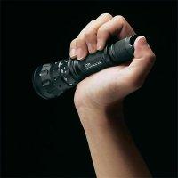 Kapesní LED svítilna s kapesním nožem LiteXpress X-Tactical 105, SET-KOMBI24, černá