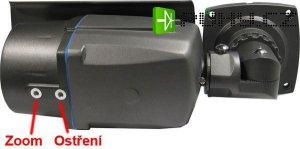 IP kamera JW-1314H CMOS 1.3MPix, obj. 2,8-12mm, flek v obraze