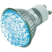 LED žárovka BaseTech 38 GU10 2 ,1 W modrá