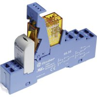 Vazební relé pro lištu DIN Finder 48.72.8.024.0060, 24 V/AC, 8 A, 2 přepínací kontakty